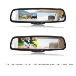 AUTO-VOX Dual Video Auto Adjusting Brightness Car Rear View Mirror - good gifts for your mom