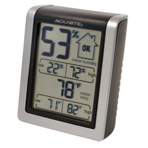 AcuRite 00613A1 Indoor Humidity Monitor - gift ideas for your mom