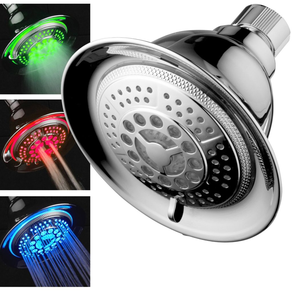 DreamSpa Water Temperature Controlled Color Changing Shower Head - last minute mothers day gifts