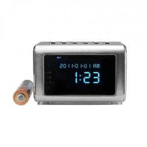 Mini Clock Radio - Hidden Nanny Cam with Audio