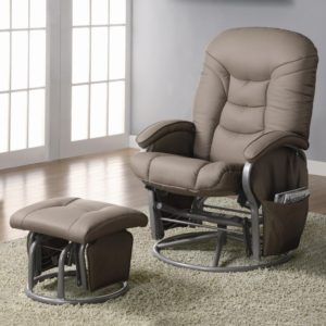 Coaster Deluxe Swivel Recliner Glider And Ottoman
