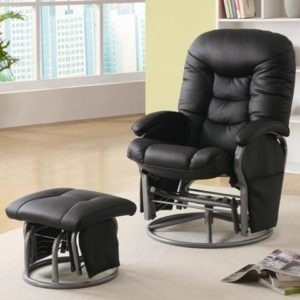 Coaster Deluxe Swivel Glider and Ottoman - glider for small nursery