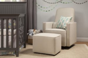 DaVinci Olive Upholstered Swivel Nursery Glider - glider for small nursery