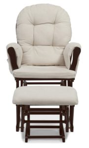 Stork Craft Hoop Glider and Ottoman - glider for small nursery