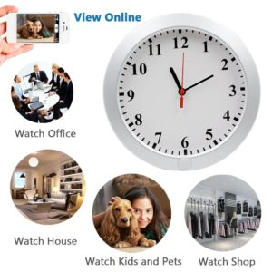 UYIKOO 1080P WiFi Wall Clock Camera IP DVR - spy video camera