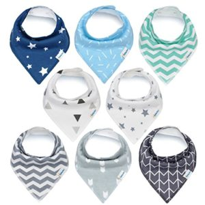 Baby Bandana Drool Bibs by KiddyStar - baby shower gifts