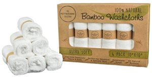 The Motherhood Collection Natural Ultra-Soft Bamboo Washcloths - best baby shower gifts