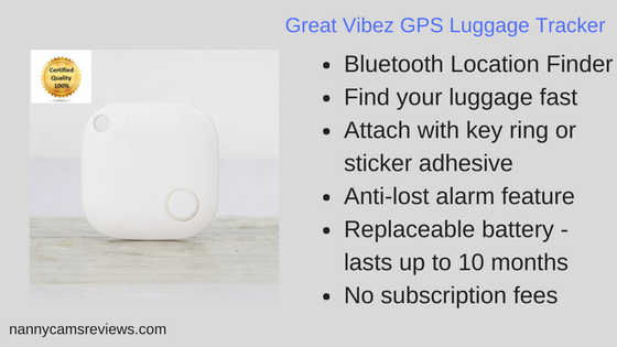 Great Vibez GPS Luggage Tracker