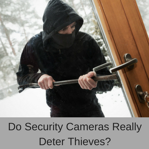 Do security cameras deter thieves?