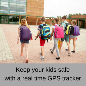 Keep your kids safe with a real time GPS tracker