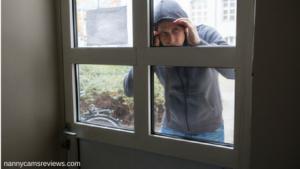 Thief looking in door - do home security cameras deter thieves?