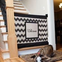 The Stair Barrier - baby gates for stairs with banisters - Dogs