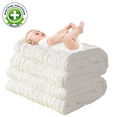 Super Soft Muslin Cotton Baby Bath Towels