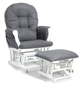 Stork Craft Custom Hoop Nursery Glider and Ottoman - Space saving nursery chairs