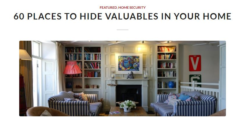 livesafely.org - 60 Places to Hide Valuables in your home